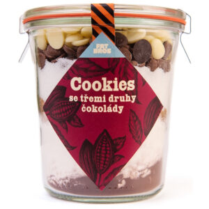 Cookies se třemi druhy čokolády
