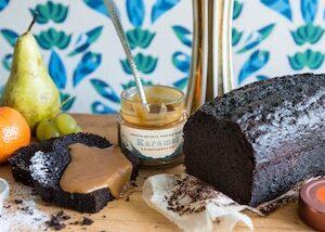 Čokoládový chlebíček s malinami v dóze