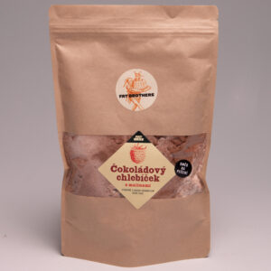 Čokoládový chlebíček s malinami