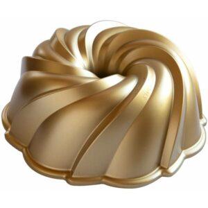 Forma na bábovku NORDIC WARE SWIRL, zlatá, 2,4 L