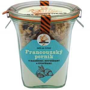 Francouzský perník s mandlemi, meruňkami a švestkami v dóze