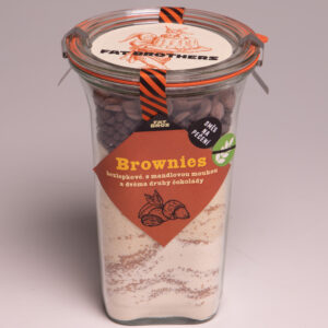 Bezlepkové brownies se dvěma druhy čokolády v dóze